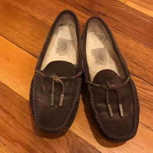 Ugg brown loafers.